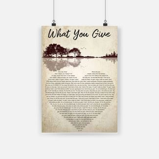 Guitar what you give one two three that makes you happy poster