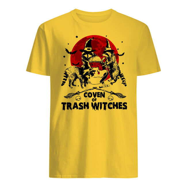 Halloween coven of trash witches raccoon shirt