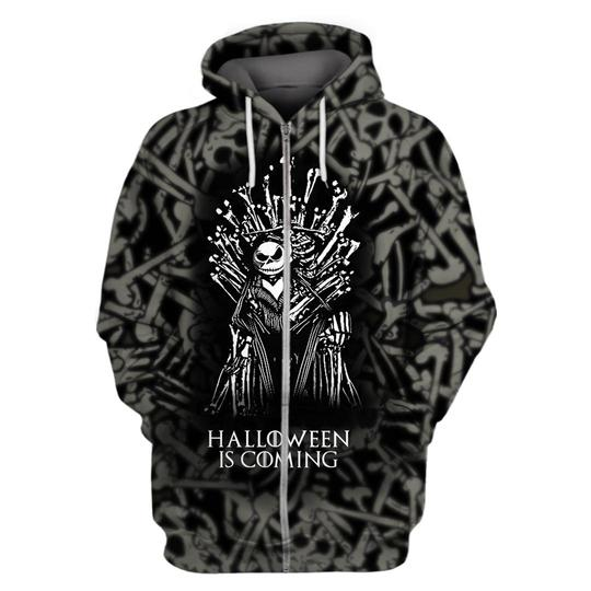 Halloween is coming jack skellington game of thrones 3d hoodie