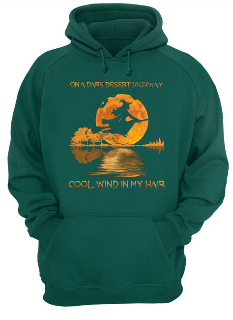 Halloween on a dark desert highway cool wind in my hair witch shirt