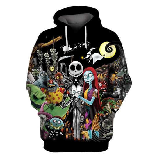 Halloween the nightmare before christmas 3d hoodie