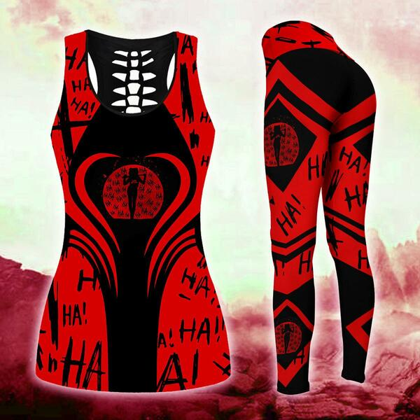 Harley quinn 3d legging and 3d tank top