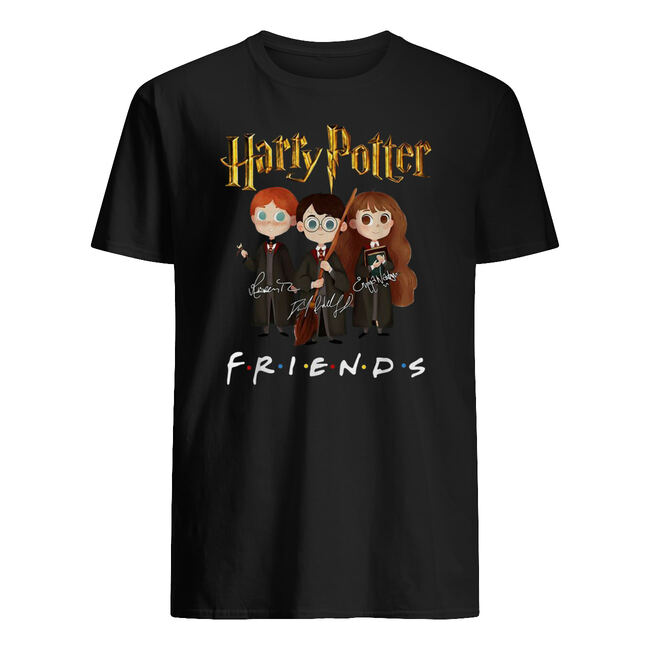 Harry potter characters friends tv show signatures shirt