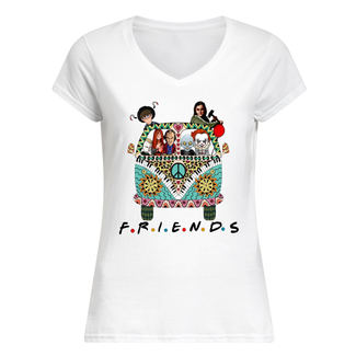 Hippie car friends movie horror movie characters shirt