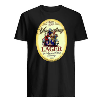 Horror movie characters yuengling lager by america's oldest brewery halloween shirt
