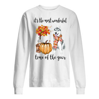 Husky it's the most wonderful time of the year shirt