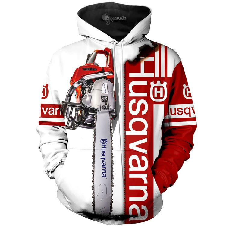 Husqvarna chainsaw 3d hoodie and 3d shorts