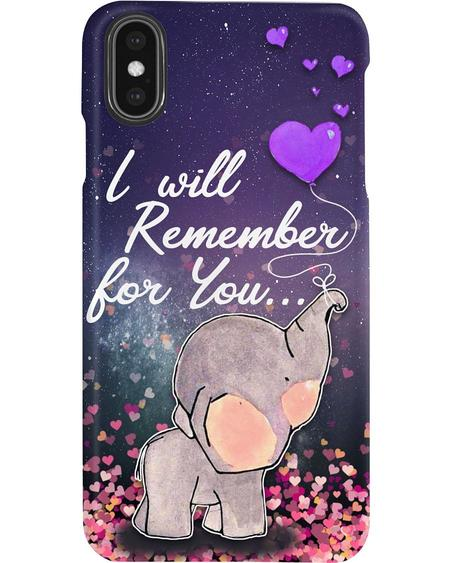 I will remember for you elephant phone case