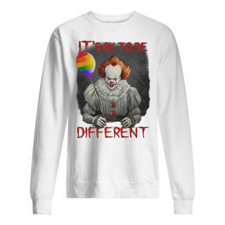IT pennywise it's ok to be different lgbt pride shirt