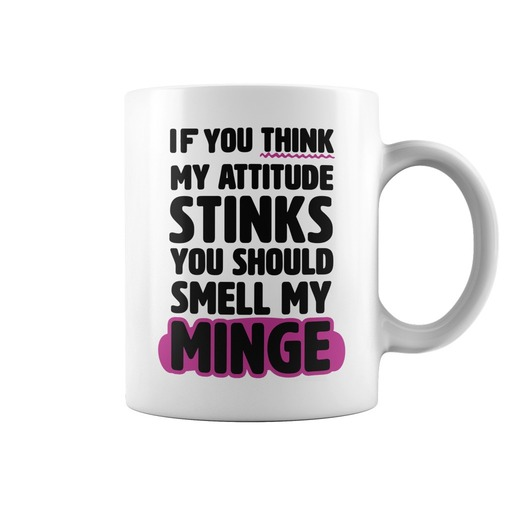 If you think my attitude stinks you should smell my minge mug