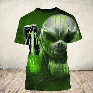 Jack skellington and monster energy 3d shirt