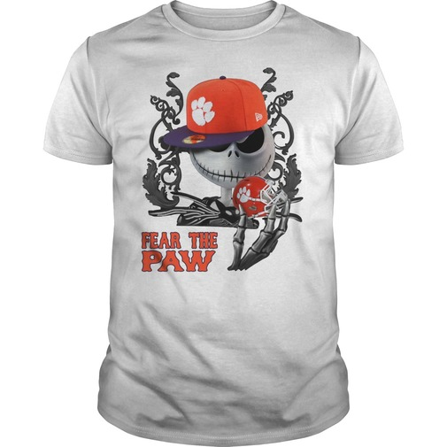 Jack skellington fear the clemson university paw shirt
