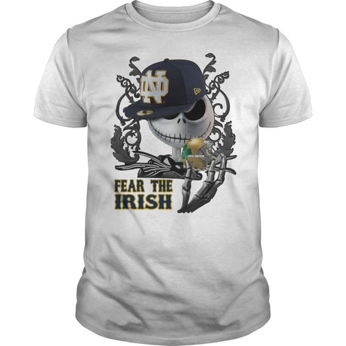 Jack skellington fear the notre dame fighting irish shirt