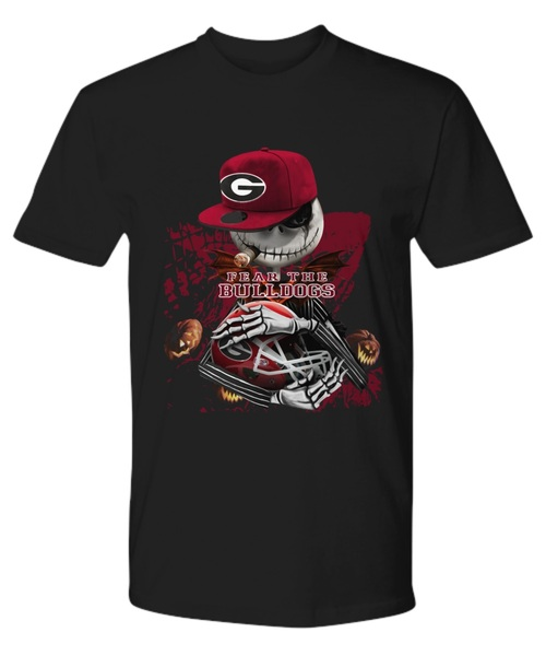 Jack skellington smoking fear the georgia bulldogs shirt