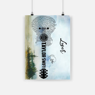 Lover taylor swift guitar poster