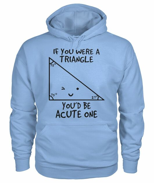 Math if you were a triangle you'd be acute one shirt