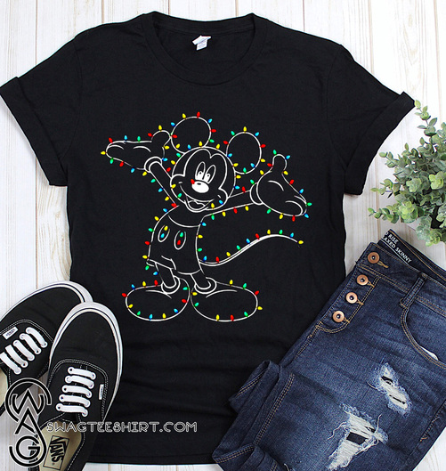 Mickey mouse light christmas shirt
