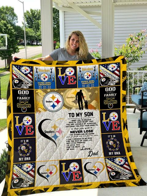 NFL pittsburgh steelers to my son blanket