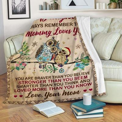 Owl to my daughter always remember that mommy loves you blanket