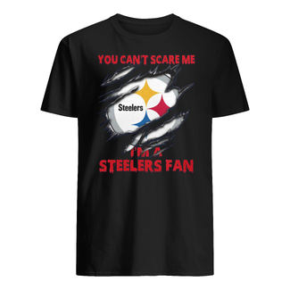 Pittsburgh steelers you can't scare me I'm a steelers fan shirt