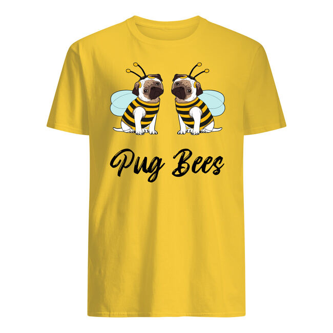 Pug bees couples shirt