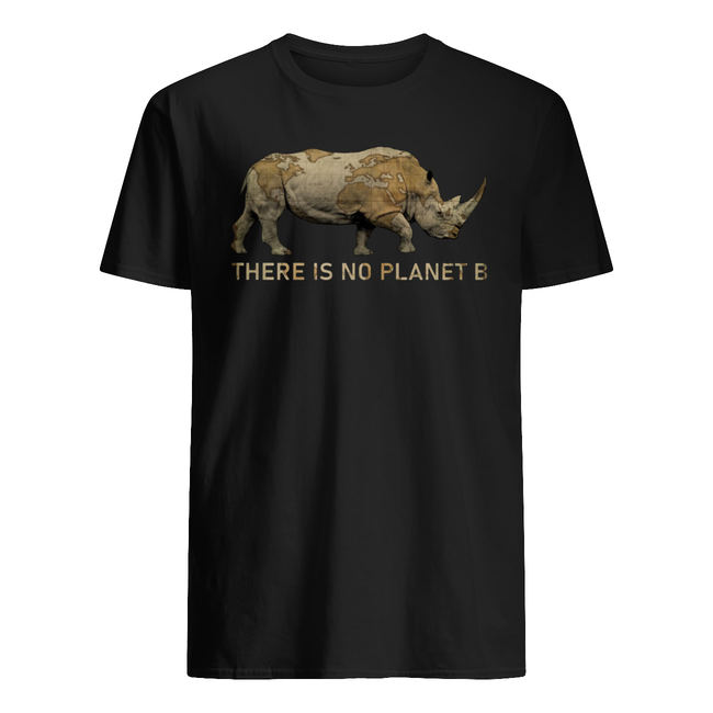 Rhino there is no planet b shirt