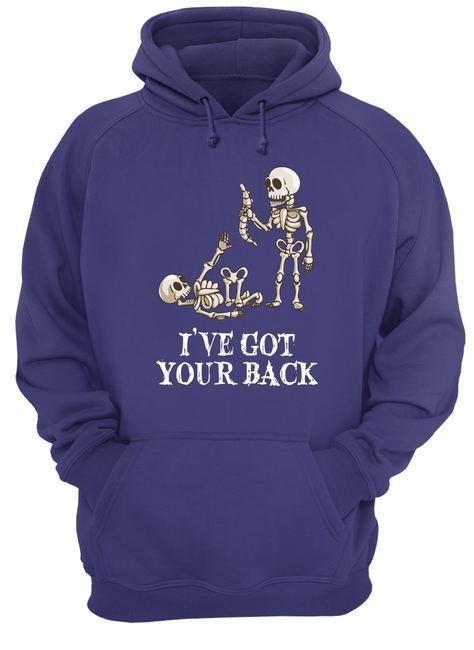 Skeleton I've got your back halloween shirt