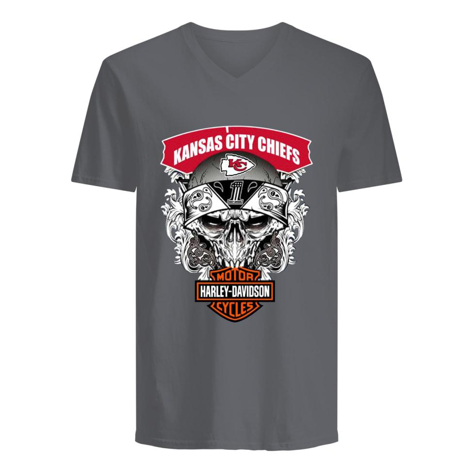 Skull harley-davidson motorcycles kansas city chiefs
