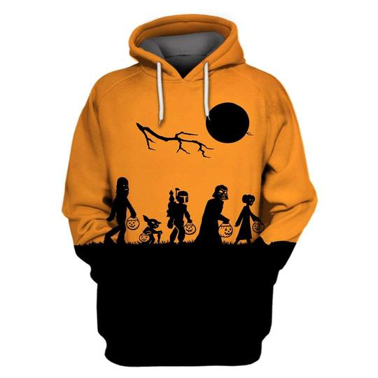 Star wars the nightmare before christmas mash up 3d hoodie