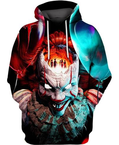 Stephen King's IT pennywise 3d hoodie and 3d t-shirt