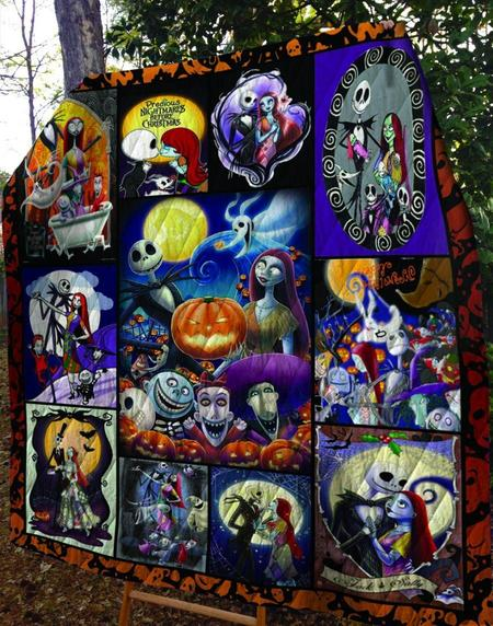 The nightmare before christmas jack and sally quilt