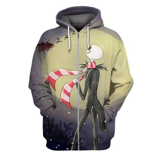 The nightmare before christmas jack skellington 3d hoodie