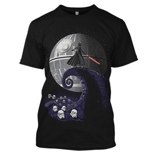 The nightmare before christmas jack skellington and star wars darth vader mashup 3d shirt