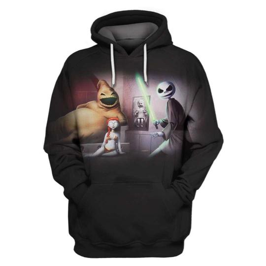 The nightmare before christmas star wars mash up 3d hoodie