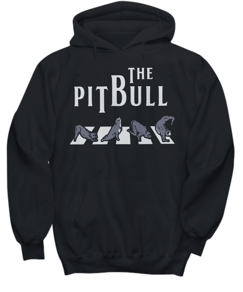 The pitbull crossing abbey road the beatles shirt