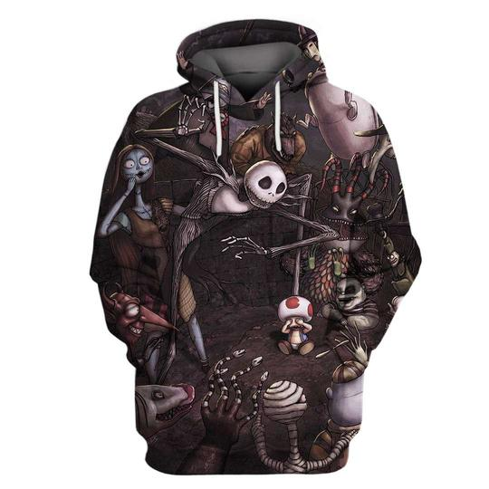 Tim burton the nightmare before christmas 3d hoodie