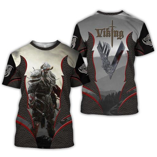 Viking 3d all over printed t-shirt