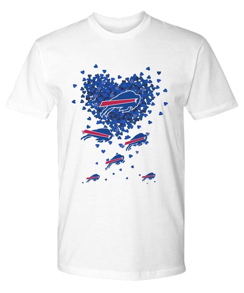 Heart butterfly love buffalo bills shirt