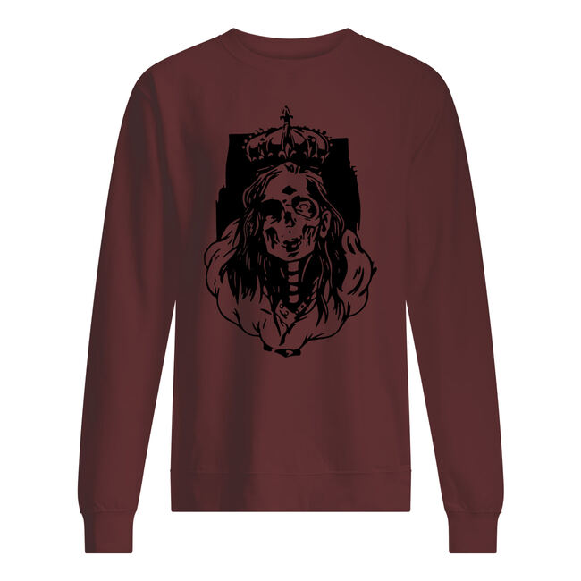 Skeleton queen horror halloween shirt
