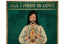 All-I-Need-Is-Love-And-Yoga-And-A-Dog-Poster
