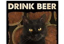Cat-Drink-Beer-Because-Murder-Is-Wrong-Poster