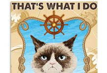 Cat-Thats-what-I-do-I-sail-and-I-know-things-poster