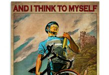 Cycling-And-I-think-to-myself-what-a-wonderful-world-poster