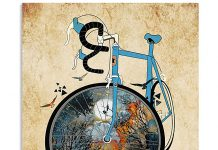 Cycling-And-into-the-forest-I-go-to-lose-my-mind-and-find-my-soul-vintage-poster