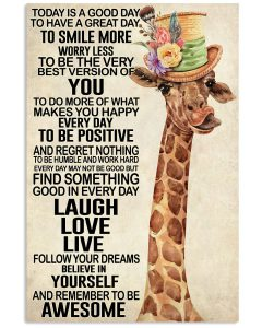 Giraffe-Today-Is-A-Good-Day-To-Have-A-Great-Day-To-Smile-More-Poster