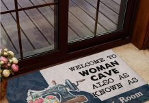 Personalized-Welcome-to-woman-cave-also-as-know-as-sewing-room-doormat