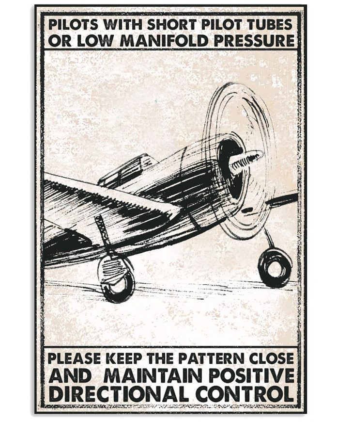 Pilots with short pilot tubes or low manifold pressure poster
