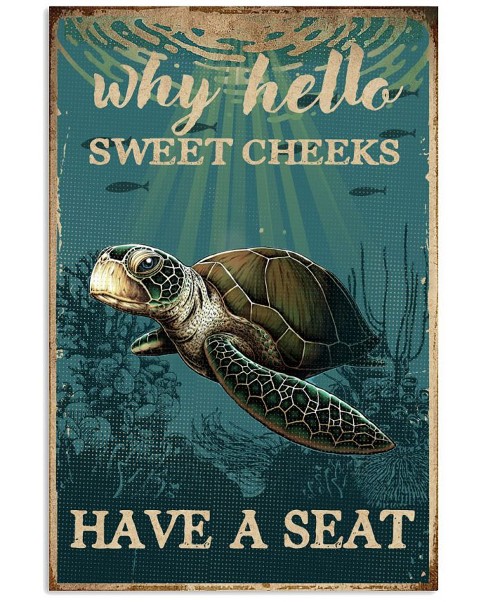 Sea-Turtle-Why-Hello-Sweet-Cheeks-Poster