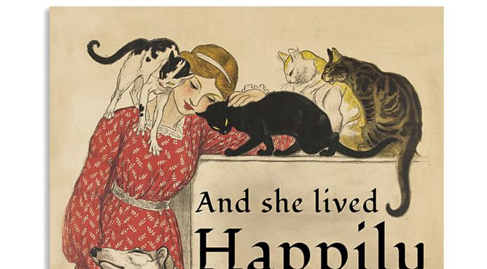 She-Lived-Happily-Dogs-And-Cats-Poster