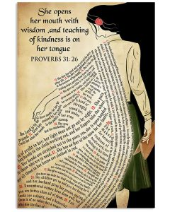 She-opens-her-mouth-with-wisdom-and-teaching-of-kindness-is-on-her-tongue-poster